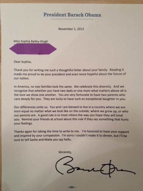 Carta de Barack